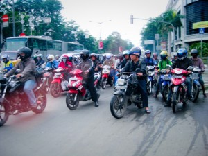 motorcycles, mopeds, jakarta, indonesia