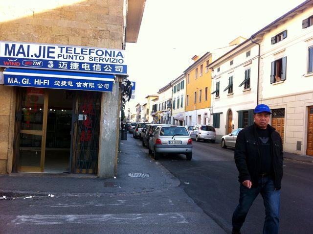 prato, italy, chinatown, via pistoiese